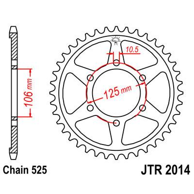 Звезда JT задняя JTR2014.47 #525 Triumph