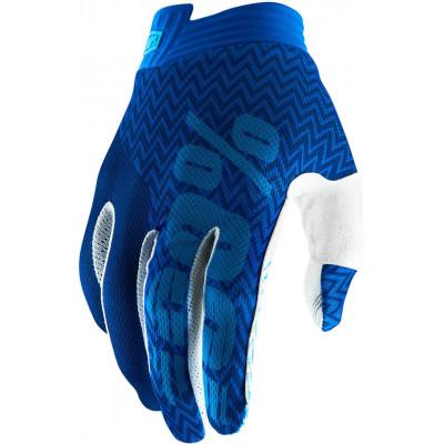 Перчатки детские 100% ITrack Youth Blue/Navy L