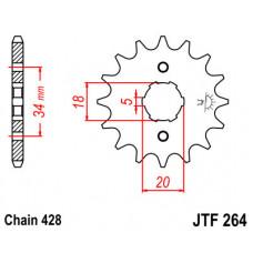 Звезда JT передняя JTF264.15 #428 XLR250