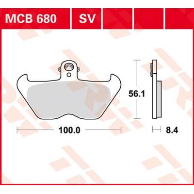 Колодки тормозные TRW MCB680 (BMW R1200, K1200)