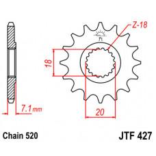 Звезда JT передняя JTF427.13 #520 S RM125 RMZ250