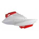 Щитки бокового номера Polisport H CRF450R 07-08 красные/белые