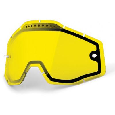 Линза двойная для очков 100% Racecraft/Accuri/Strata Vented  Anti-Fog Yellow