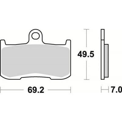 Колодки тормозные Braking 906CM55 (MCB737, FA347, FDB2158)