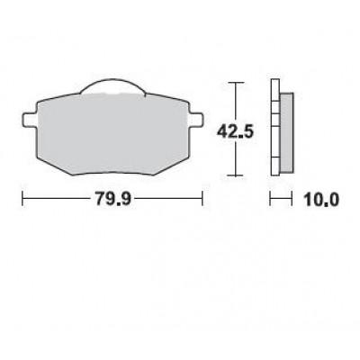 Колодки тормозные Braking 735SM1 (MCB587)