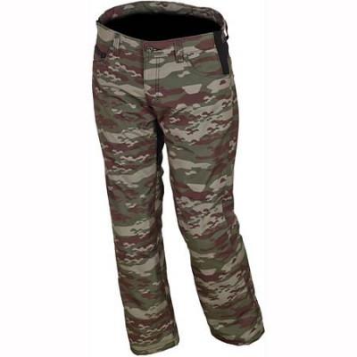 Мотоштаны текстильные Macna G03 камуфляж зеленые.  38