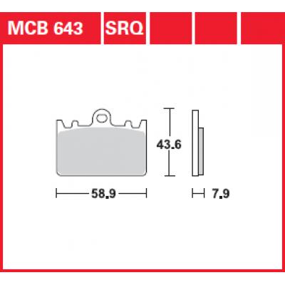 Колодки тормозные TRW MCB643 (K ZXR400)