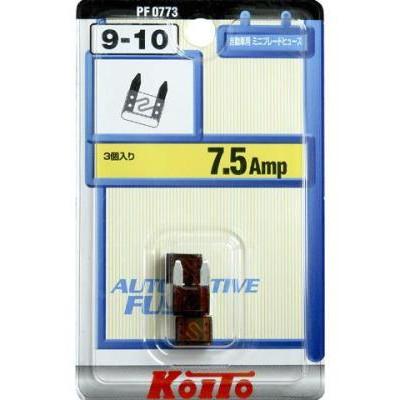 Предохранители Koito 7,5A мини, 3 шт.