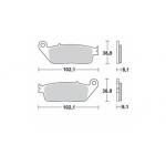Колодки тормозные Braking 716SM1 (MCB598)