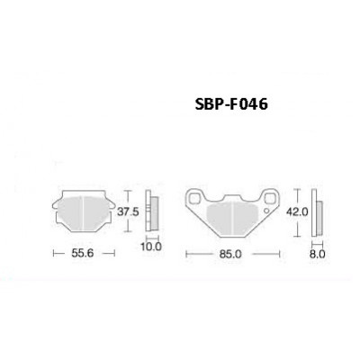 Колодки тормозные Motor Tech SBP-F046 (TRW MCB523, EBC FA067, FA067/3, FA251, FA173)