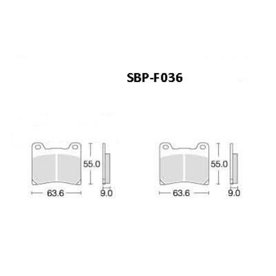 Колодки тормозные Motor Tech SBP-F036 (TRW MCB530, EBC FA088, FDB337)