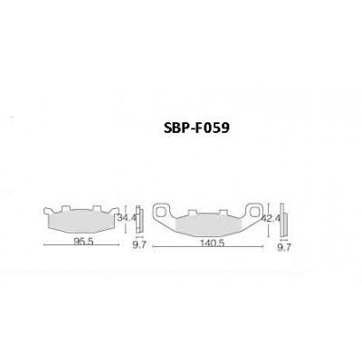 Колодки тормозные Motor Tech SBP-F059 (TRW MCB569, EBC FA129)