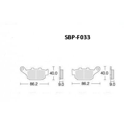 Колодки тормозные Motor Tech SBP-F033 (TRW MCB585, EBC FA140)