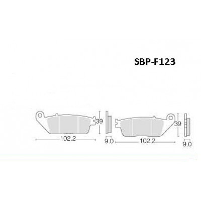 Колодки тормозные Motor Tech SBP-F123 (TRW MCB598, EBC FA608, FA226)