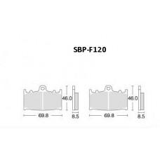 Колодки тормозные Motor Tech SBP-F120 (TRW MCB602, EBC FA158)