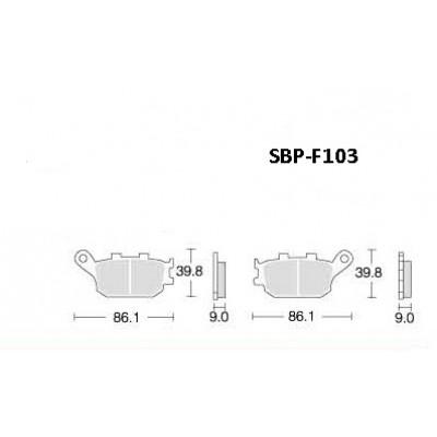 Колодки тормозные Motor Tech SBP-F103 (TRW MCB634, EBC FA174, Ferodo FDB754)