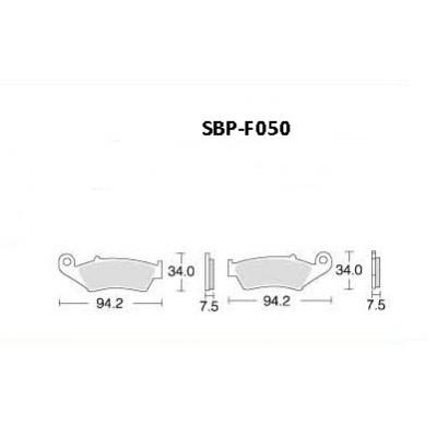 Колодки тормозные Motor Tech SBP-F050 (TRW MCB669, EBC FA185), передние