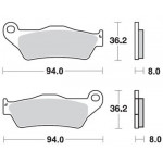 Колодки тормозные G-brake GM-07031S (MCB648, FDB2018)
