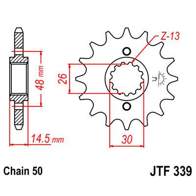 Звезда JT передняя JTF339.18 #530 H CB1300