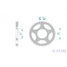 Звезда Afam ведомая 14404-47 #525 S GSF400 Bandit 91-92 (807.47)