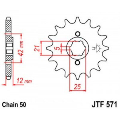 Звезда JT передняя JTF571.16 #50