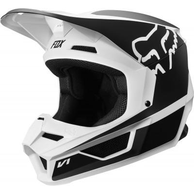 Шлем кроссовый детский Fox V1 Przm Black/White S