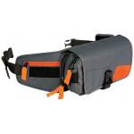 Сумка на пояс Fox Deluxe Toolpack серая/оранжевая