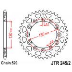 Звезда JT задняя JTR245/2.49 #520 Y WR250/450
