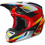 Шлем кроссовый Fox V3 Motif Helmet Red/Yellow L 57-58 cm