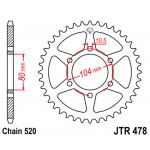 Звезда JT задняя JTR478.43 #520 ZX6R Z750