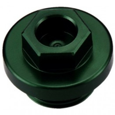 Болт для слива масла из ДВС CR/CRF/YZ/WR/KX/YZF, зеленый, Accel
