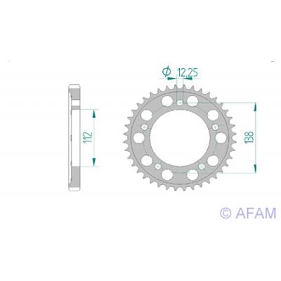 Звезда Afam ведомая (алюминий) 11508-44 #530 H CBR1100XX 96-08 (302.44)