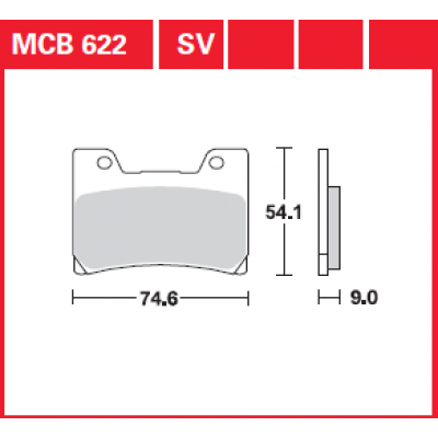 Колодки тормозные TRW MCB622SV (TDM850, FZR600R, YZF600, V-max 1200)
