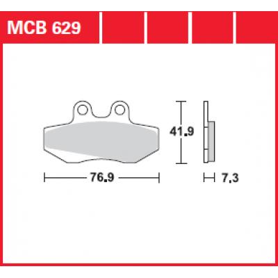 Колодки тормозные TRW MCB629 (H CMX250C)