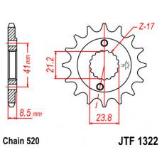 Звезда JT передняя JTF1322.15 #520 H XR400 CRM250 TRX400