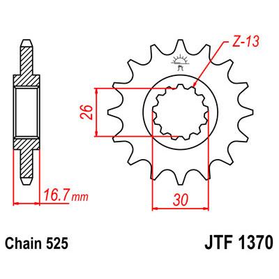 Звезда JT передняя JTF1370.16 #525 H CB600 CBR600 XL1000V