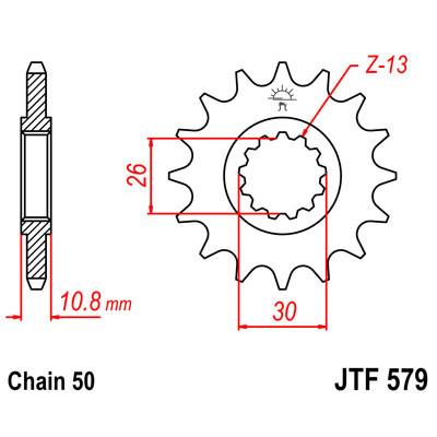 Звезда JT передняя JTF579.16 #530 Y FZ1 YZF-R1 XJR1200/1300
