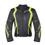 Куртка текстильная Rush Stance черная/желтая XL