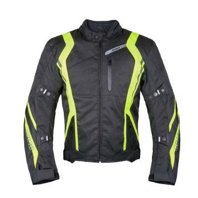 Мотокуртка текстильная Rush Stance черная/желтая XL