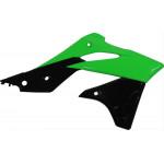 Обтекатель радиатора Polisport K KX250F 13-16 черный/зеленый