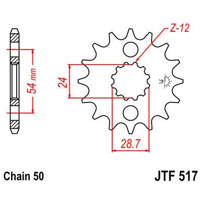 Звезда JT передняя JTF517.18 #530 K ZX12R