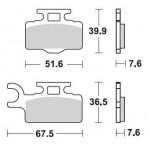 Колодки тормозные Braking 894СМ44 (MCB714)