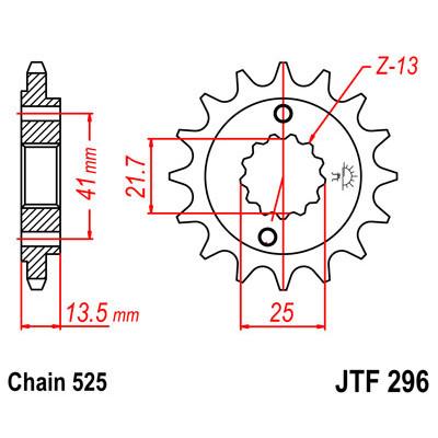 Звезда JT передняя JTF296.16 #525 Steed400, VT600 Shadow, Bros650