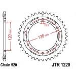 Звезда JT задняя JTR1220.38 #520 H CBR250RR