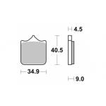 Колодки тормозные Braking 947CM55 (MCB829)