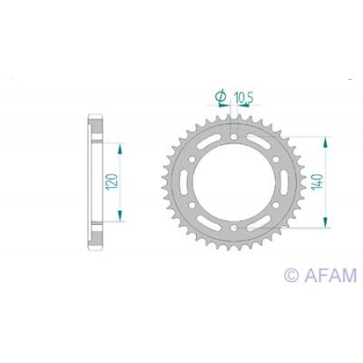 Звезда Afam ведомая (алюминий) 17603-40 #530 S GSX-R1300 TL1000 VN800 (499.40)