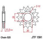 Звезда JT передняя JTF1591.15 #525 MT-07/09 FZ-07/09 FZ8 TDM900