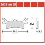 Колодки тормозные TRW MCB798SI (Polaris Spornsman)