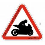 """Наклейка """"Мотоциклист за рулем"""" Спортбайк"""