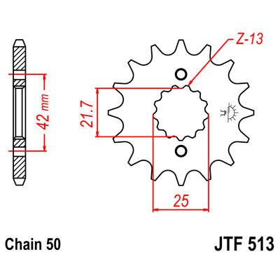 Звезда JT передняя JTF513.15 #530 ZZR400 II, GSXR750 88-97, GSF1200